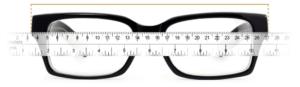 Slika merjenja dolžine očal.