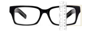 Slika merjenja širine očal.
